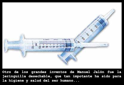 La jeringuilla desechable: Manuel Jal?n, inventor de la fregona, cre? la jeringuilla hipod?rmica desechable