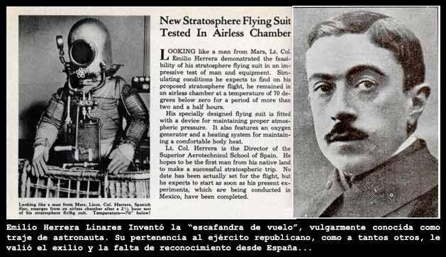 Emilio Herrera Linares dise?? el primer traje espacial de la historia